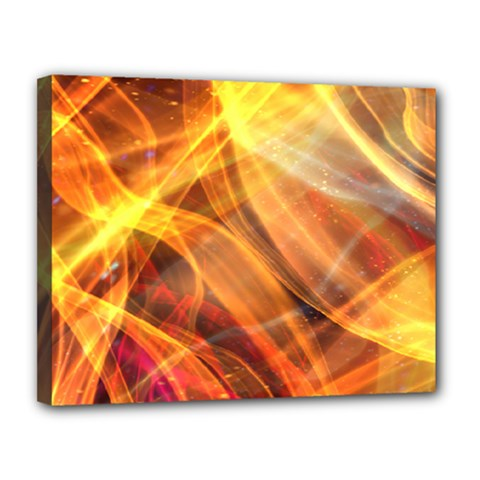 Abstract Shiny Night Lights 17 Canvas 14  X 11  by tarastyle