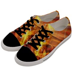 Abstract Shiny Night Lights 17 Men s Low Top Canvas Sneakers by tarastyle