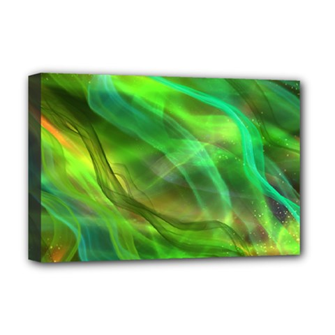 Abstract Shiny Night Lights 21 Deluxe Canvas 18  X 12   by tarastyle