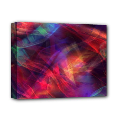 Abstract Shiny Night Lights 23 Deluxe Canvas 14  X 11  by tarastyle