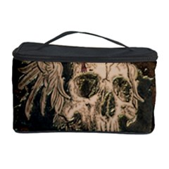 Awesome Creepy Skull With Rat And Wings Cosmetic Storage Case by FantasyWorld7