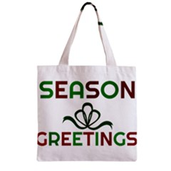 Season Greetings Zipper Grocery Tote Bag by Colorfulart23