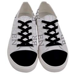 I Am Ok   Broken Men s Low Top Canvas Sneakers