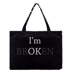 I Am Ok   Broken Medium Tote Bag by Valentinaart