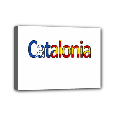 Catalonia Mini Canvas 7  X 5  by Valentinaart