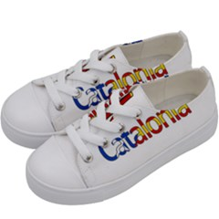 Catalonia Kids  Low Top Canvas Sneakers by Valentinaart