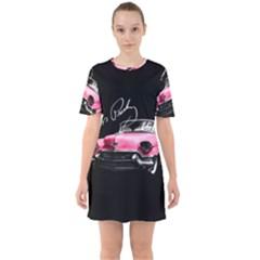 Elvis Presleys Pink Cadillac Sixties Short Sleeve Mini Dress