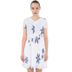 Star Snow Blue Rain Cool Adorable In Chiffon Dress by AnjaniArt