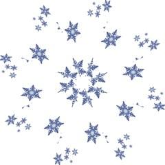 Star Snow Blue Rain Cool Hook Handle Umbrellas (small) by AnjaniArt