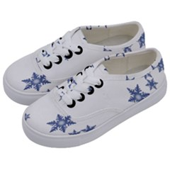 Star Snow Blue Rain Cool Kids  Classic Low Top Sneakers by AnjaniArt