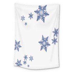 Star Snow Blue Rain Cool Large Tapestry by AnjaniArt