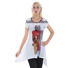 National Anthem Protest Short Sleeve Side Drop Tunic by Valentinaart