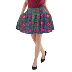 Flowers From Paradise Colors And Star Rain A Line Pocket Skirt by pepitasart