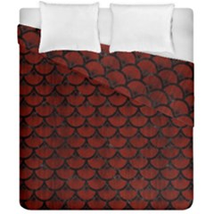 Scales3 Black Marble & Reddish Brown Wood Duvet Cover Double Side (california King Size) by trendistuff