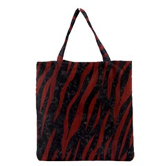 Skin3 Black Marble & Reddish Brown Wood (r) Grocery Tote Bag by trendistuff