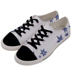 Star Snow Blue Rain Cool Men s Low Top Canvas Sneakers by AnjaniArt