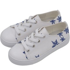 Star Snow Blue Rain Cool Kids  Low Top Canvas Sneakers by AnjaniArt