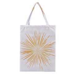 Fireworks Light Yellow Space Happy New Year Classic Tote Bag by AnjaniArt