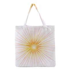 Fireworks Light Yellow Space Happy New Year Red Grocery Tote Bag by AnjaniArt