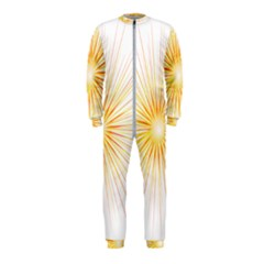 Fireworks Light Yellow Space Happy New Year Red Onepiece Jumpsuit (kids)
