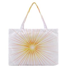 Fireworks Light Yellow Space Happy New Year Red Zipper Medium Tote Bag by AnjaniArt