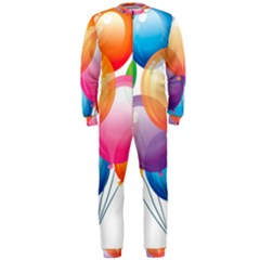 Birthday Happy New Year Balloons Rainbow Onepiece Jumpsuit (men)  by AnjaniArt