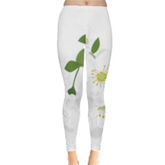 Flower Floral Sakura Leggings  by AnjaniArt