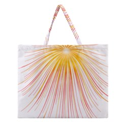 Fireworks Yellow Light Zipper Large Tote Bag by AnjaniArt