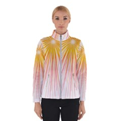 Fireworks Yellow Light Winterwear by AnjaniArt