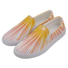 Fireworks Yellow Light Men s Canvas Slip Ons by AnjaniArt