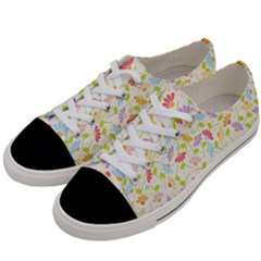 Flower Rainbow Sexy Leaf Plaid Vertical Horizon Women s Low Top Canvas Sneakers by AnjaniArt