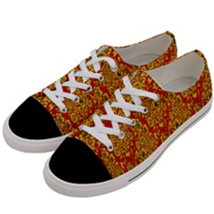 Flower Rose Red Yellow Sexy Women s Low Top Canvas Sneakers by AnjaniArt