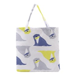Seals Sea Lions Animals Fish Grocery Tote Bag by AnjaniArt