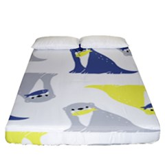 Seals Sea Lions Animals Fish Fitted Sheet (california King Size) by AnjaniArt