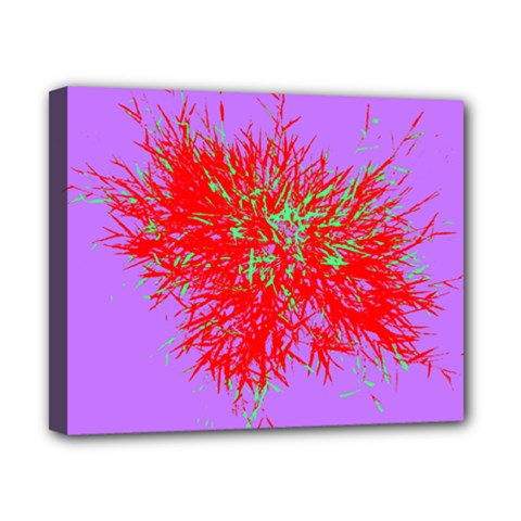 Spot Paint Red Green Purple Sexy Canvas 10  X 8  by AnjaniArt