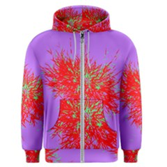 Spot Paint Red Green Purple Sexy Men s Zipper Hoodie by AnjaniArt