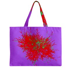Spot Paint Red Green Purple Sexy Zipper Mini Tote Bag by AnjaniArt