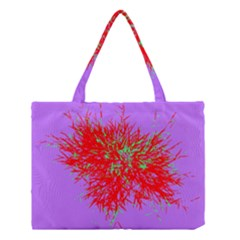 Spot Paint Red Green Purple Sexy Medium Tote Bag by AnjaniArt