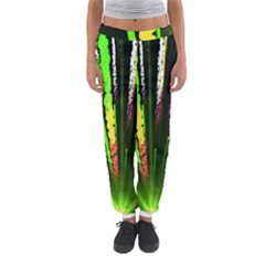 Seamless Colorful Green Light Fireworks Sky Black Ultra Women s Jogger Sweatpants by AnjaniArt