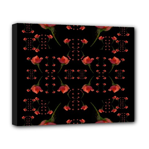 Roses From The Fantasy Garden Deluxe Canvas 20  X 16   by pepitasart