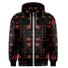 Roses From The Fantasy Garden Men s Zipper Hoodie by pepitasart
