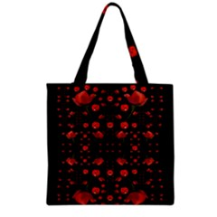 Pumkins And Roses From The Fantasy Garden Grocery Tote Bag by pepitasart