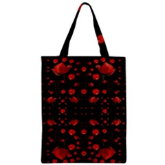 Pumkins And Roses From The Fantasy Garden Zipper Classic Tote Bag by pepitasart