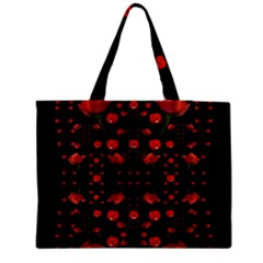 Pumkins And Roses From The Fantasy Garden Zipper Medium Tote Bag by pepitasart