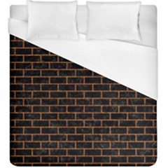 Brick1 Black Marble & Rusted Metal (r) Duvet Cover (king Size) by trendistuff