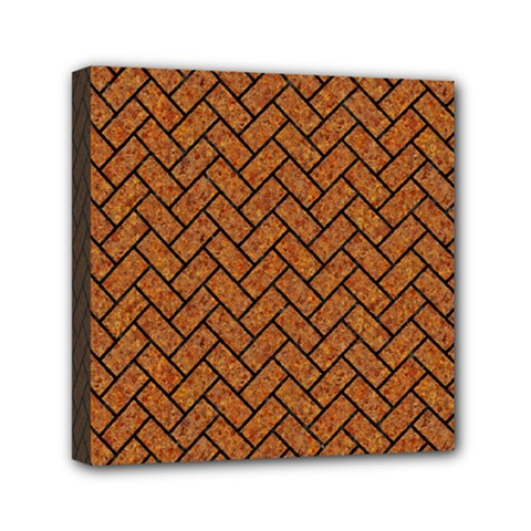 Brick2 Black Marble & Rusted Metal Mini Canvas 6  X 6  by trendistuff