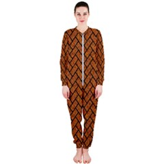 Brick2 Black Marble & Rusted Metal Onepiece Jumpsuit (ladies)  by trendistuff