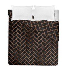 Brick2 Black Marble & Rusted Metal (r) Duvet Cover Double Side (full/ Double Size) by trendistuff