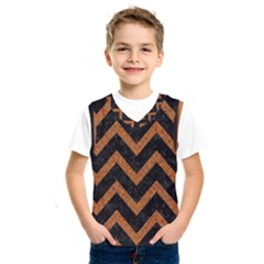 Chevron9 Black Marble & Rusted Metal (r) Kids  Sportswear by trendistuff