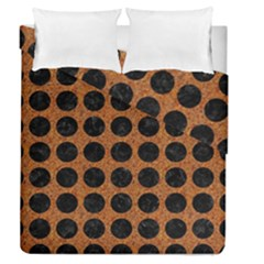 Circles1 Black Marble & Rusted Metal Duvet Cover Double Side (queen Size) by trendistuff